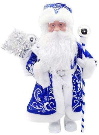 Кукла Новогодняя сказка Дед Мороз  43 см под елку, синий мягкие игрушки новогодняя сказка кукла дед мороз 45 см серебро
