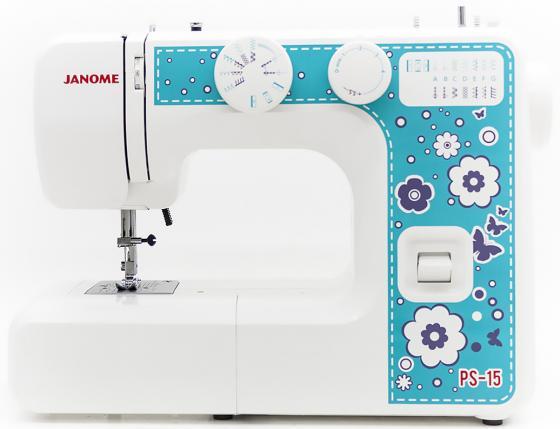 цена на Швейная машина Janome PS-15 белый голубой