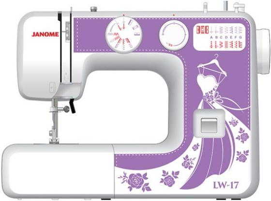 цена на Швейная машина Janome LW-17 белый фиолетовый
