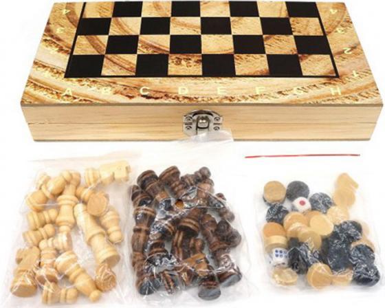 Настольная игра логическая Shantou Gepai 3 в 1 Шахматы, шашки, нарды, поле 29,5х29,5см W3018H настольная игра логическая 3 в 1 шахматы шашки нарды магнитные 3704c