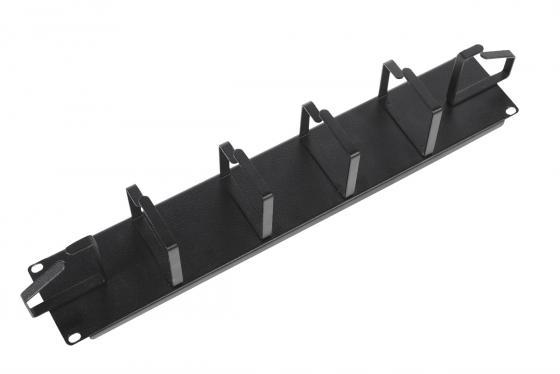 Горизонтальный кабельный органайзер ЦМО ГКО-6-2-9005 19 2U 6 колец черный