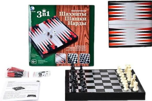 Настольная игра логическая 3 в 1 Шахматы, шашки, нарды магнитные 3704C hub adapter 3 usb 2 0 ports