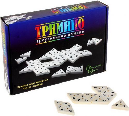 Настольная игра домино Бэмби Тримино 7059