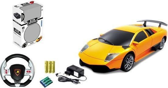 Машинка на радиоуправлении Shantou Gepai 1:24, 4 канала, аккум., USB з/у, звук на руле, свет от 3 лет — в ассортименте 333-F32 мыльные пузыри shantou gepai мех машинка 50 мл в ассортименте