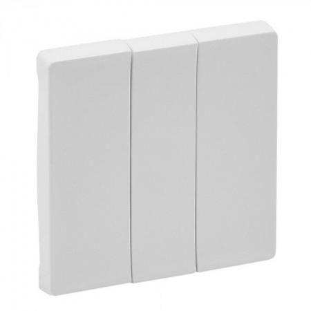 Лицевая панель Legrand Valena Life для выключателя трехклавишного белый 755030 рога mj cycle be 1165 алюминий 6061 круглое сечение длина 100мм чёрные be 1165