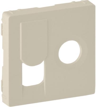Лицевая панель Legrand Valena Life для розетки TV-RJ45 слоновая кость 754831