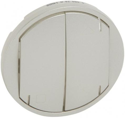 Лицевая панель Legrand Celiane для выкл.жалюзи ZigBee № 67263/67264 титан 68474 legrand legrand celiane беж лицевая панель для звонка 066273