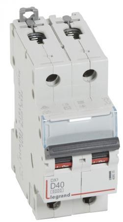 Автоматический выключатель Legrand DX3 6000 10кА тип D 2П 40А 408035