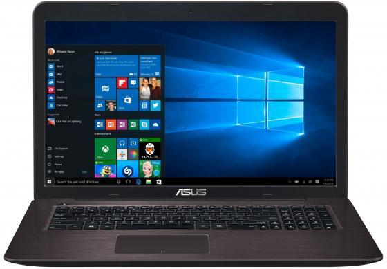 Ноутбук ASUS X756UQ-T4216T 17.3 1920x1080 Intel Core i3-6100U 1Tb 6Gb nVidia GeForce GT 940MX 2048 Мб черный Windows 10 Home 90NB0C31-M02350