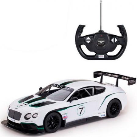 Машинка на радиоуправлении Shantou Gepai BentleyContinentalGT3 белый от 6 лет пластик 70600 зимняя шина continental contivikingcontact 6 225 55 r17 101t