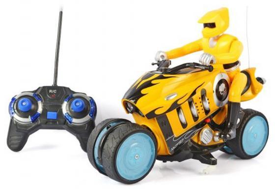 Мотоцикл на радиоуправлении Shantou Gepai Мотоцикл желтый от 3 лет пластик 333-930B мотоцикл на радиоуправлении shantou gepai мотоцикл пластик от 3 лет цвет в ассортименте