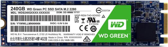 все цены на Твердотельный накопитель SSD M.2 240Gb Western Digital GREEN Read 540Mb/s Write 465Mb/s SATAIII WDS240G1G0B онлайн