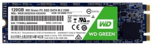 Твердотельный накопитель SSD M.2 120Gb Western Digital Green Read 540Mb/s Write 430Mb/s SATAIII WDS120G1G0B жесткий диск пк western digital wd40ezrz 4tb wd40ezrz