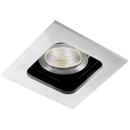 Встраиваемый светильник Donolux DL18614/01WW-SQ Alu/Black точечный светильник donolux dl18614 02ww sq alu black