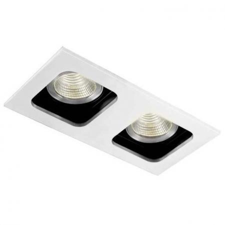 Встраиваемый светильник Donolux DL18614/02WW-SQ White/Black точечный светильник donolux dl18614 02ww sq alu black