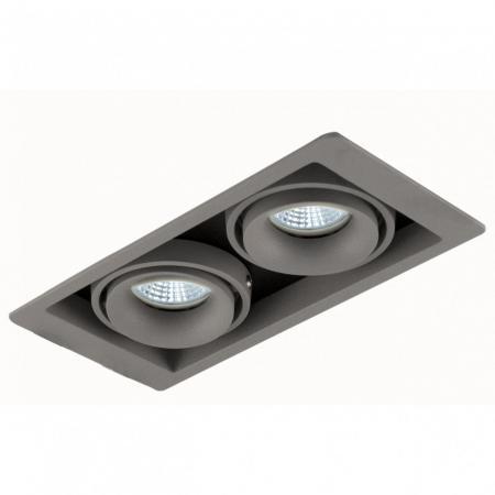 Встраиваемый светильник Donolux DL18615/02WW-SQ Silver Grey/Black точечный светильник donolux dl18615 02ww sq white black