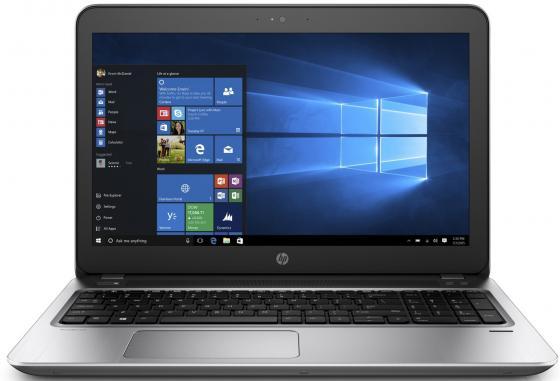 Ноутбук HP ProBook 455 G4 15.6 1366x768 AMD A6-9210 128 Gb 8Gb Wi-Fi Intel HD Graphics 620 серебристый Windows 10 Professional Y8B12EA hp 15 w100ur intel® 2300 мгц 8 гб 15 6 wi fi