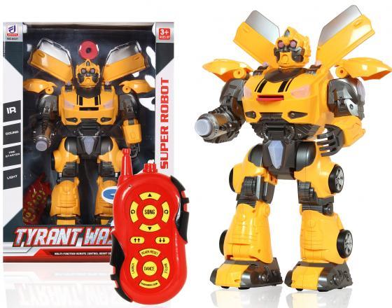 Робот-трансформер Shantou Gepai Tyrant Wasp 45 см на радиоуправлении со звуком светящийся танцующий 6021 робот трансформер shantou gepai робот машина со звуком светящийся в ассортименте