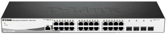 Коммутатор D-LINK DGS-1210-28MP/E1A управляемый 24 порта 10/100/1000Mbps