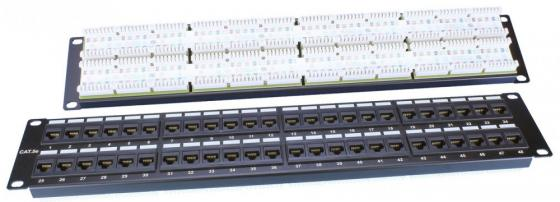 Патч-панель Hyperline PP3-19-48-8P8C-C5E-110D 19 48 портов RJ-45 категория 5e Dual IDC черный 1u770mm dual motherboard computer case rack for idc server mail chassis