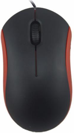 Мышь проводная Ritmix ROM-111 чёрный красный USB ritmix ritmix rom 111 черный usb
