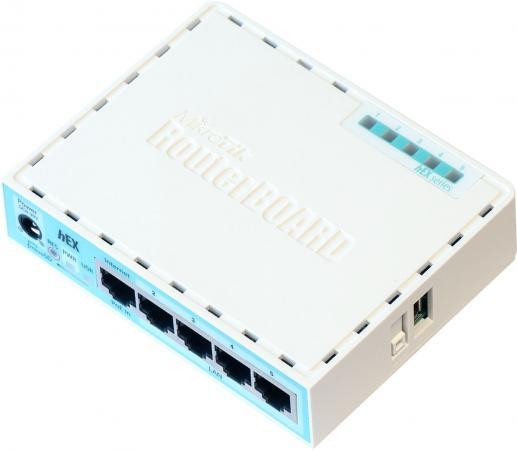 Маршрутизатор Mikrotik hEX 5x10/100/1000 Mbps USB RB750Gr3 все цены
