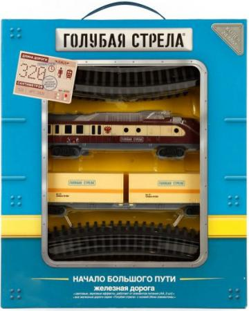 Железная дорога Голубая стрела, тепловоз, контейнерная платформа 2020С железная дорога голубая стрела голубая стрела 87197