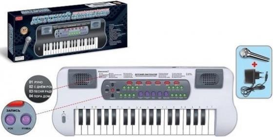 Синтезатор Shantou Gepai с микрофоном, 37 клавиш ZYB-B0689-2 фото