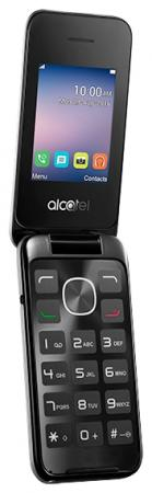 Мобильный телефон Alcatel OneTouch 2051D серебристый раскладной 2Sim 2.4 240x320 2Mpix BT GSM900/1800 GSM1900 FM microSD max32Gb mooncase slim leather side flip wallet card slot pouch with kickstand shell back чехол для samsung galaxy a3 brown