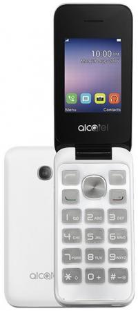 Мобильный телефон Alcatel OneTouch 2051D белый 2.4 мобильный телефон alcatel onetouch 2051d metal silver