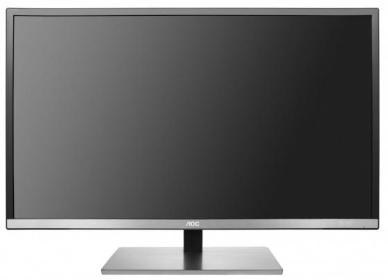 Монитор 31 AOC U3277FWQ серебристый черный VA 3840x2160 350 cd/m^2 4 ms DVI HDMI VGA монитор 32 aoc u3277fwq mva 3840x2160 4ms dvi d hdmi displayport vga