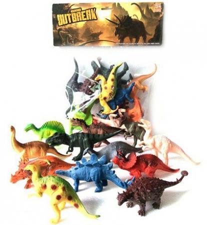 Игровой набор Shantou Gepai Динозавры 12 предметов K188 игровой набор shantou gepai парикмахер 8 предметов 22146