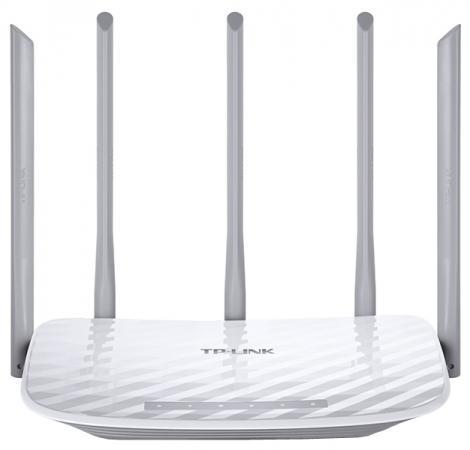Беспроводной маршрутизатор TP-LINK Archer C60 802.11acbgn 1317Mbps 5 ГГц 2.4 ГГц 4xLAN RJ-45 белый маршрутизатор tp link tl wr842nd ru 802 11bgn 300mbps 2 4 ггц 4xlan usb rj 45 rj 45 usb белый