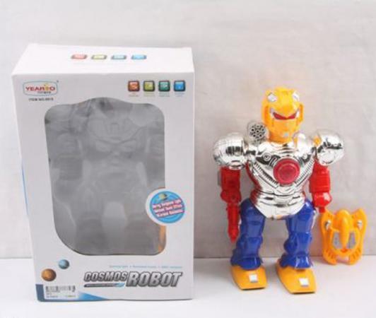 """Робот электронный Shantou Gepai """"Робот-боец со щитом"""" со звуком светящийся 915 стоимость"""