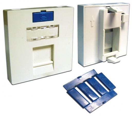 лучшая цена Вставка Lanmaster LAN-SIP-23M-WH 45x45 на 1 кейстоун со шторкой белый