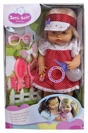 Кукла Shantou Gepai Лучший малыш 40 см говорящая писающая пьющая смеющаяся Y4071540 shantou gepai компьютер русско английский 40 функции 7398
