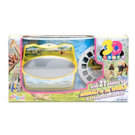 Проектор 3D Shantou Gepai Животные, 3 смен.слайда, 21 изображе 3001W