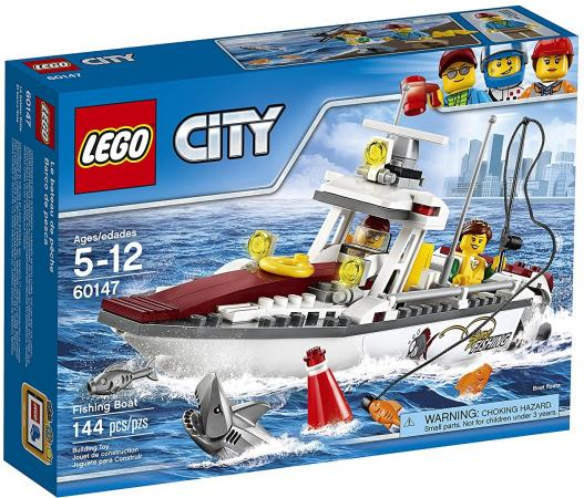 Конструктор LEGO City: Рыболовный катер 144 элемента 60147 in stock new lepin 22001 pirate ship imperial warships model building kits block briks toys gift 1717pcs compatible 10210