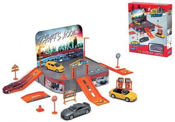 Игровой набор Гараж Welly включает 1 машину 96020 полесье игровой набор гараж 1 премиум с автомобилями