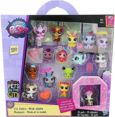 Игровой набор Hasbro Littlest Pet Shop набор зверюшек - малышей 15 предметов hasbro littlest pet shop b6625 литлс пет шоп набор зверюшек малышей