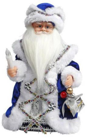 Дед Мороз Новогодняя сказка 30 см 1 шт синий пластик, текстиль, мех 972609 мягкие игрушки новогодняя сказка кукла дед мороз на снежинке 30 см син