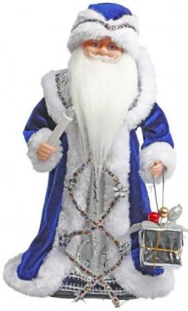 Дед Мороз Новогодняя сказка 40 см, мех., муз., песня В лесу родилась елочка, синий ёлочное украшение новогодняя сказка дед мороз 13 см пластик