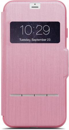 Чехол Moshi SenseCover для iPhone 7. Материал пластик/полиуретан. Цвет розовый. чехол для муха iq446 кожа iq446 роскошь полиуретан открытая вверх и пуховик черный белый розовый цвет
