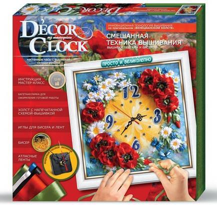 Набор для творчества ДАНКО-ТОЙС Decor Clock Маки от 12 лет  DC-01-04 набор для творчества данко тойс my color clutch пони от 5 лет