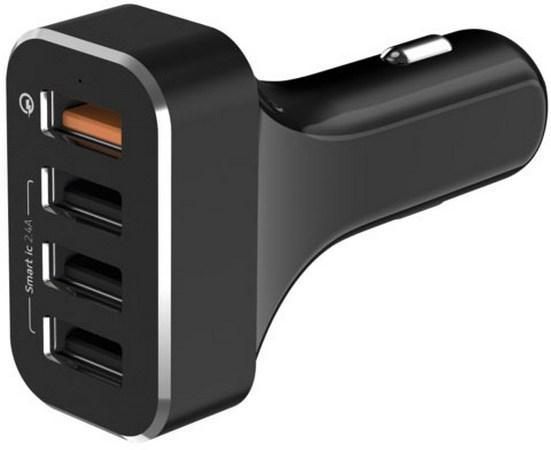 Сетевое зарядное устройство LAB.C LABC-584-BK 2.4А 4 x USB черный