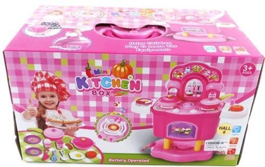 Игровой набор Shantou Gepai Кухня на ножках с набором посуды и продуктами 3557 цена