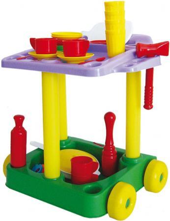 Игровой набор Совтехстром Сервировочный столик с набором посуды 44 предмета У533 игровой набор palau toys сервировочный столик stars chef