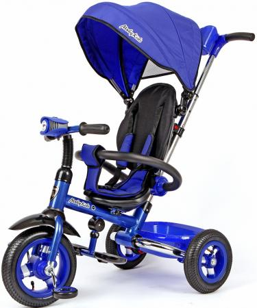 Велосипед трехколёсный Moby Kids Junior-2 10/8 синий Т300-2
