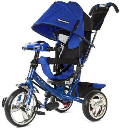 Велосипед трехколёсный Moby Kids Comfort 12*/10* синий 64947 велосипед moby kids comfort ultra 12 10 синий