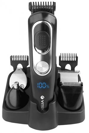Триммер Vitek VT-2549 чёрный серебристый триммер vitek vt 2545 вк чёрный